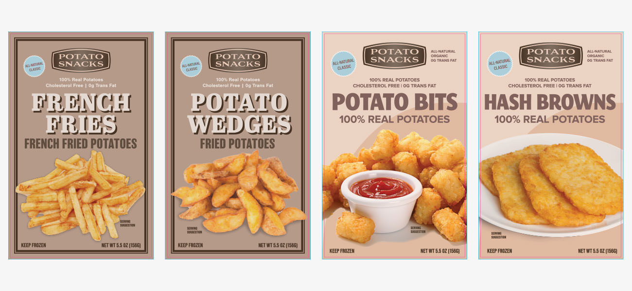 Aspen Dental Potatoes Packaging Design