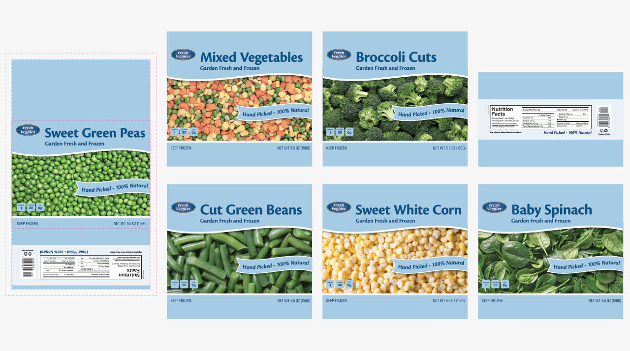 Aspen Dental Vegetables Packaging Design