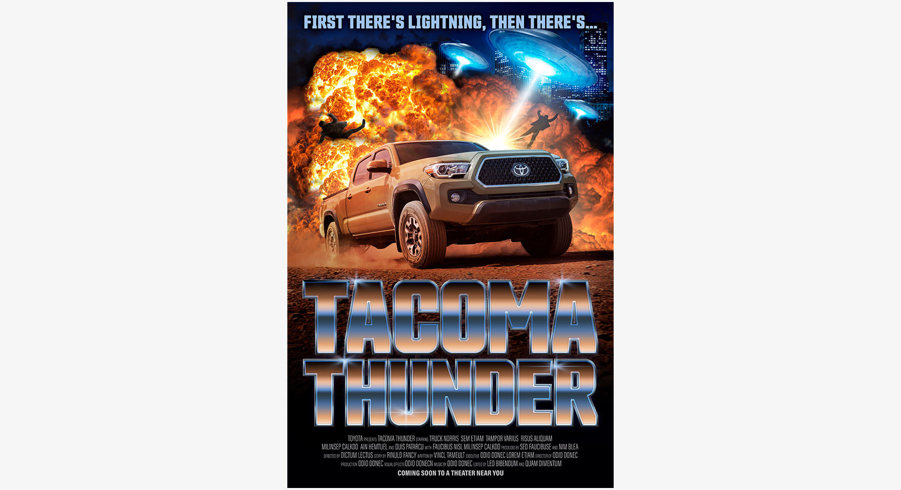 Biscuit Toyota Tacoma Thunder Poster