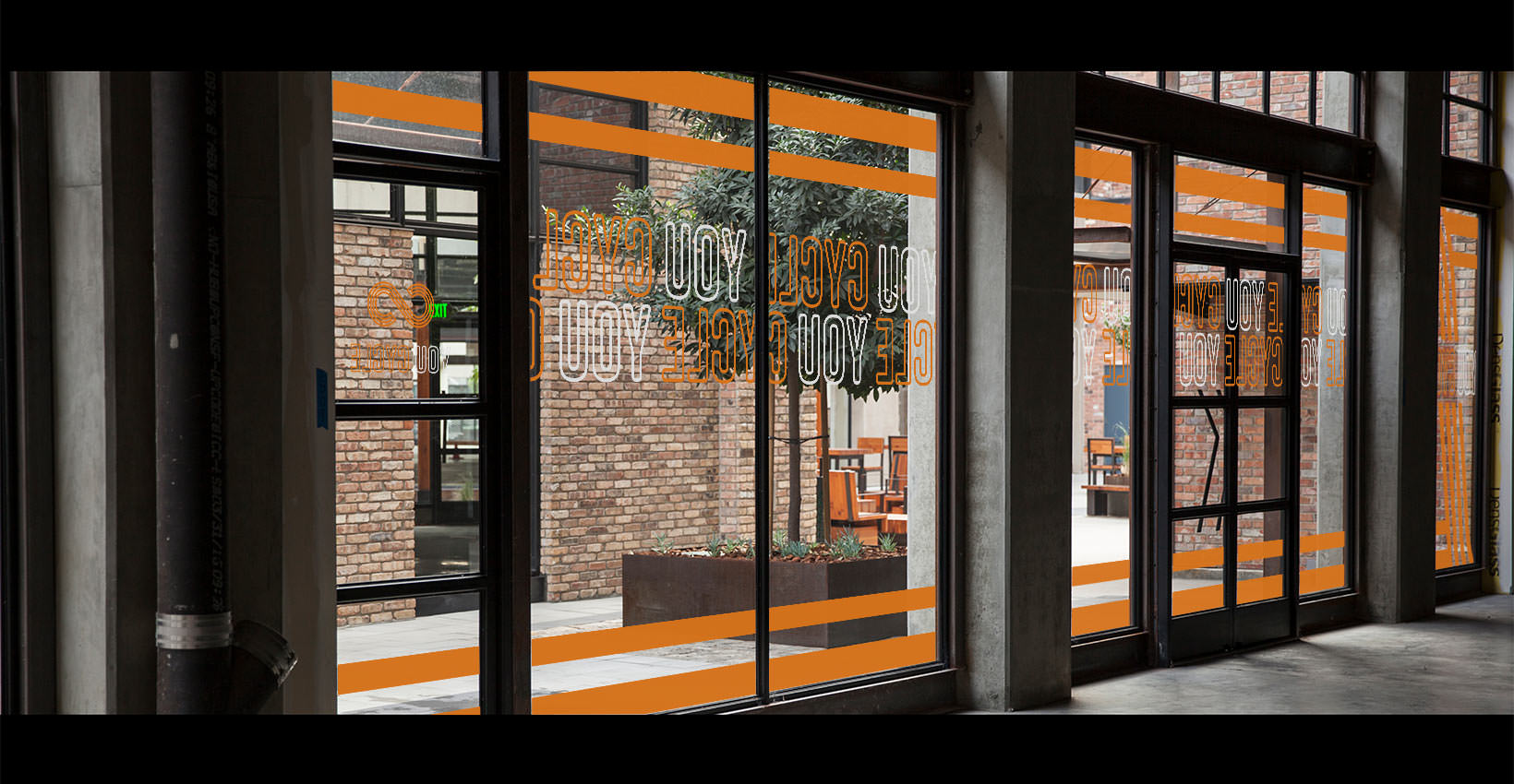 Wells Fargo Jerry - Gym Window Graphics