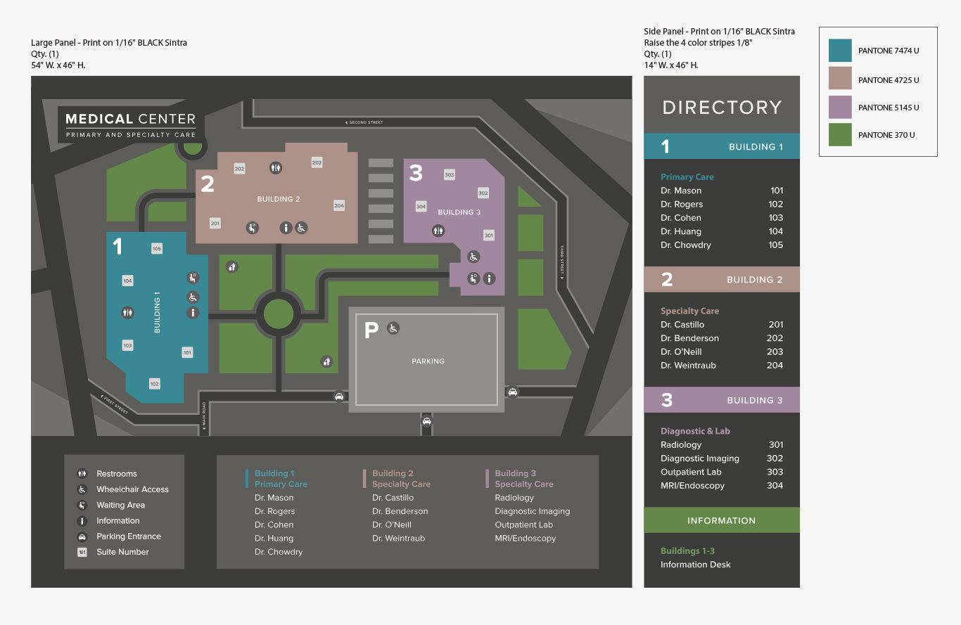 Grace and Frankie Season 5 - Doctor's Office Map