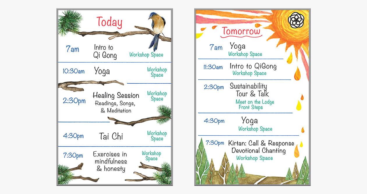 Grace and Frankie Season 5 - Meditation Center Whiteboards