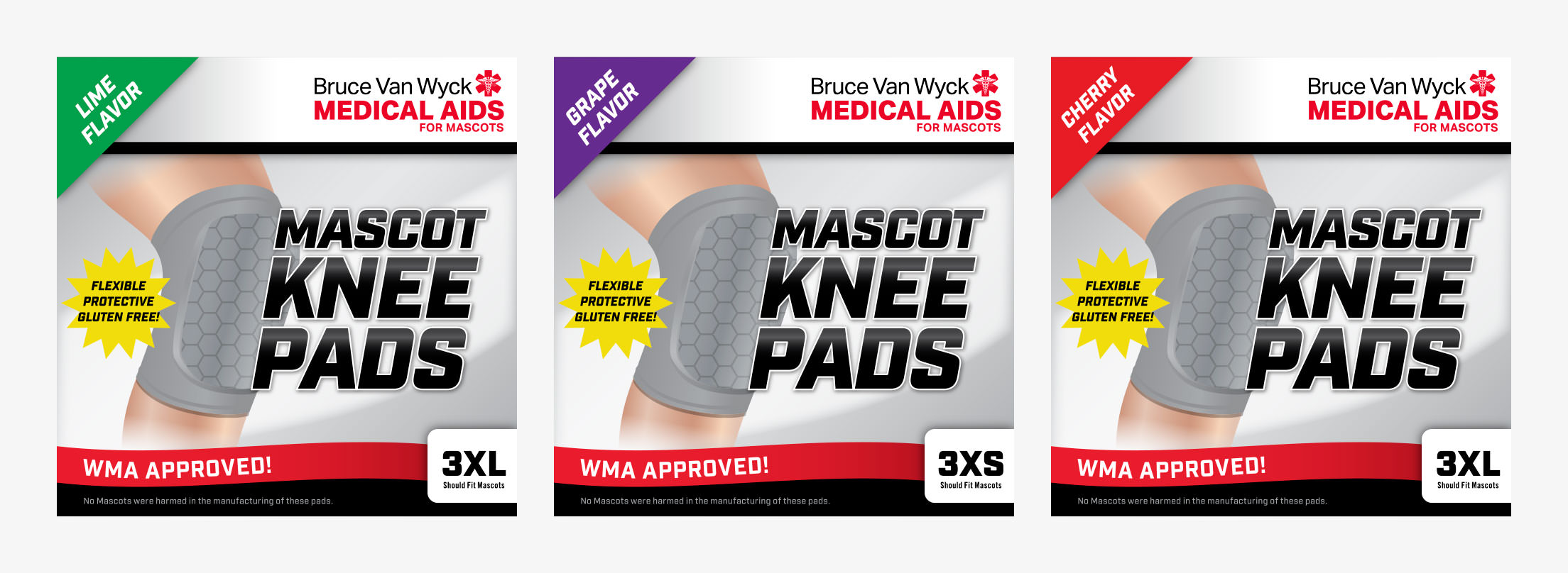 Mascots: Packaging Knee Pads