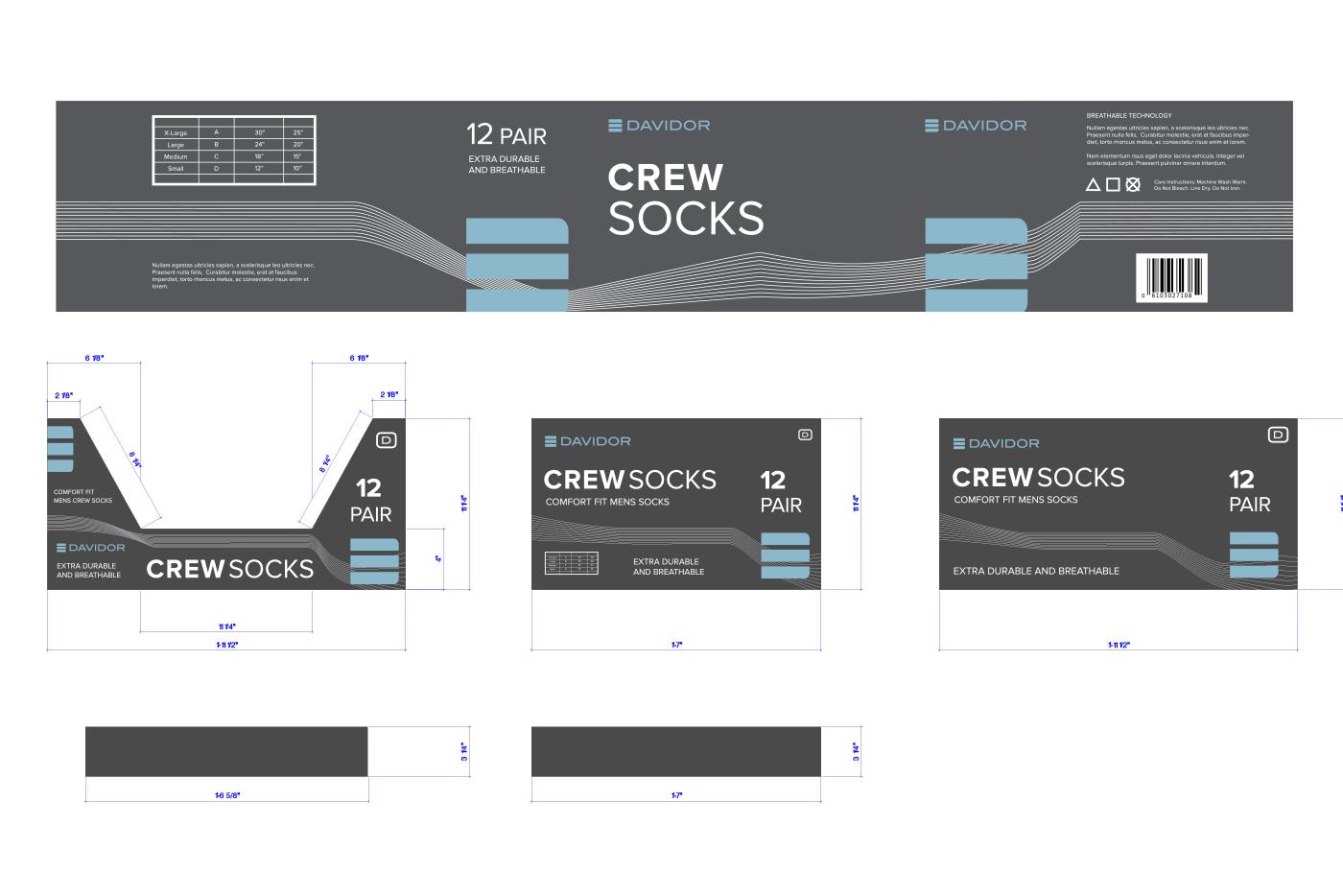 socks box graphics