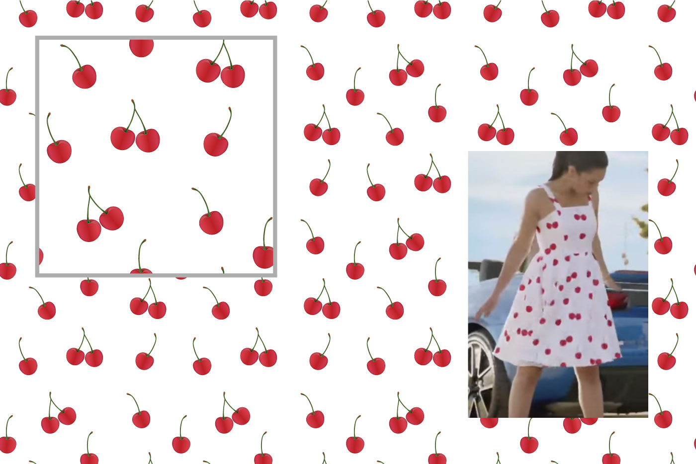 cherries pattern graphic