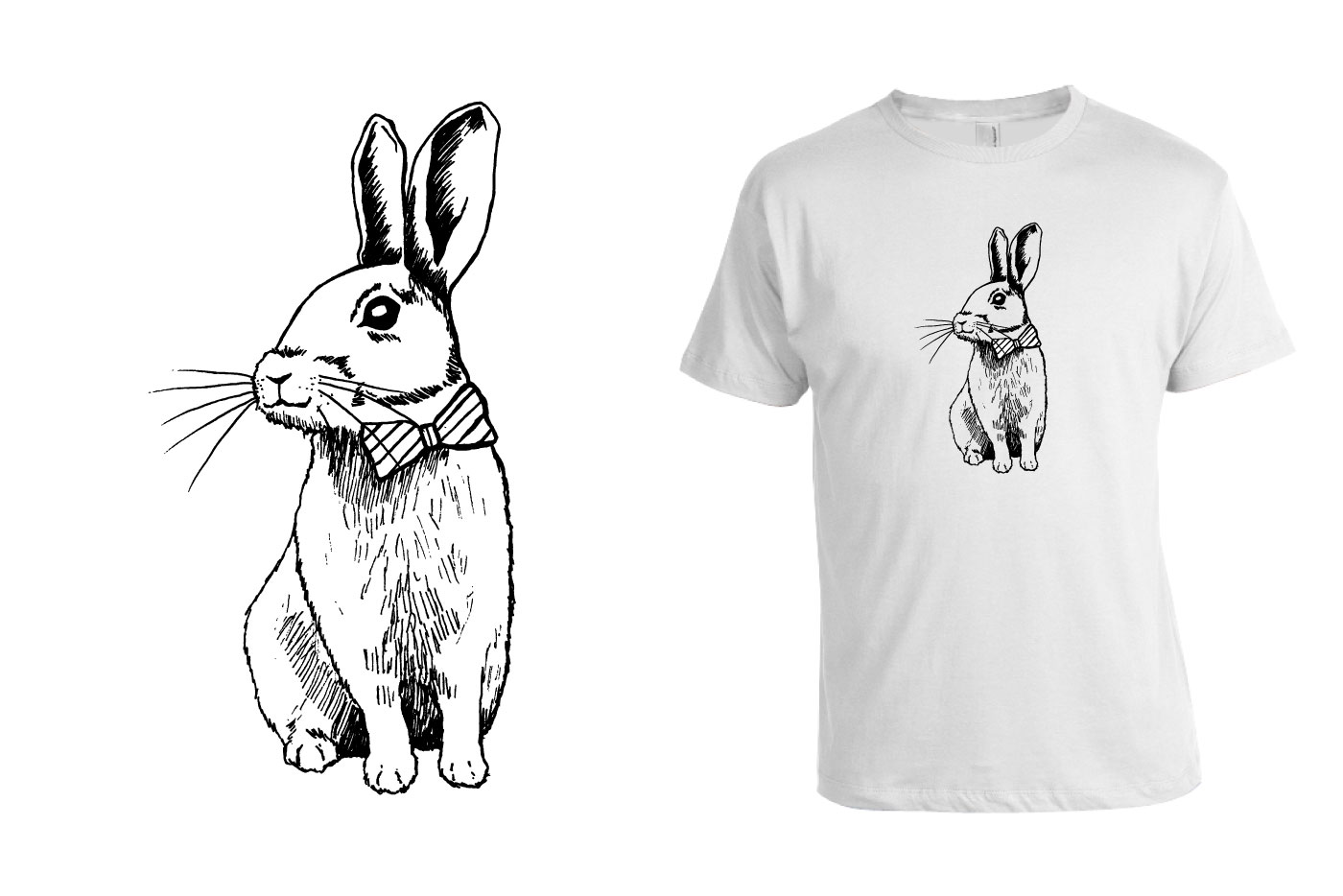 rabbit t-shirt graphic